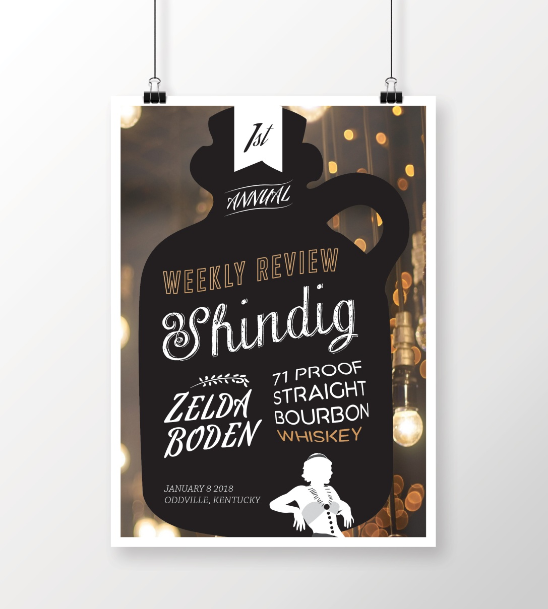 Zelda Boden Whiskey Event Poster