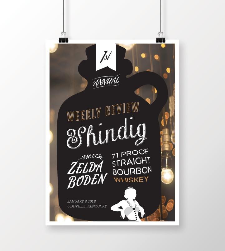 Zelda Boden Whiskey Event Poster
